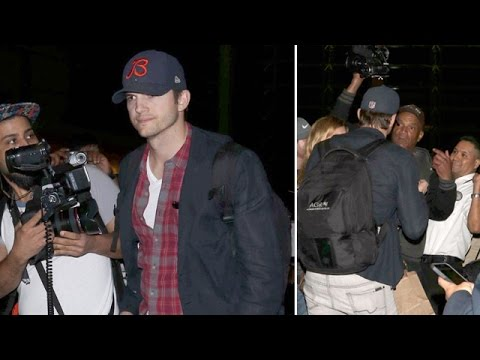 Ashton Kutcher Yells At Photographer As He Makes His Way Through LAX [CENSORED]