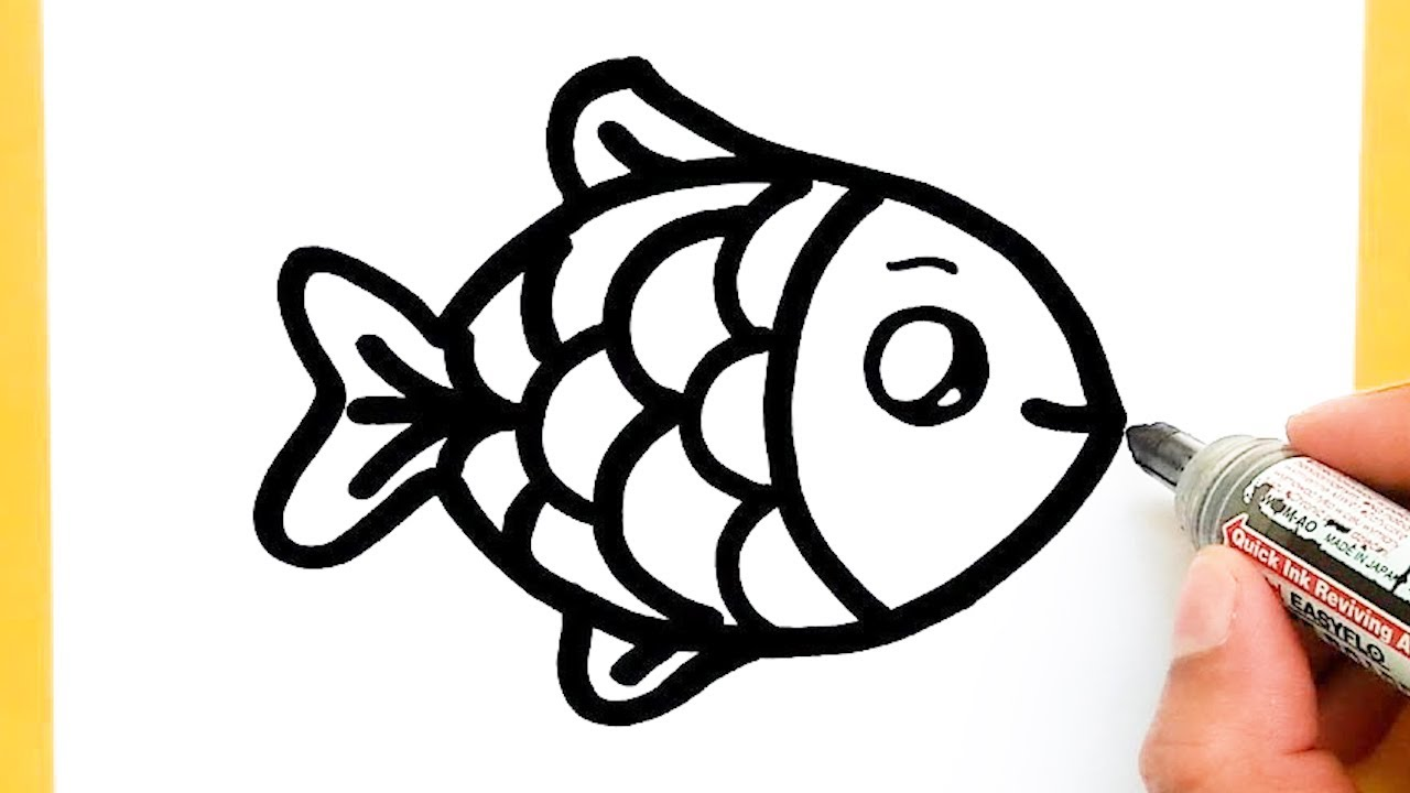 How To Draw A Supper Cute Fish Supper Easy Draw Cute Things Youtube