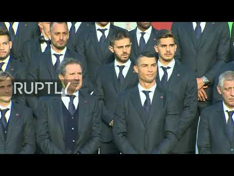 Live: CR7 and Portuguese team arrive at Moscow region training base for World Cup 2018