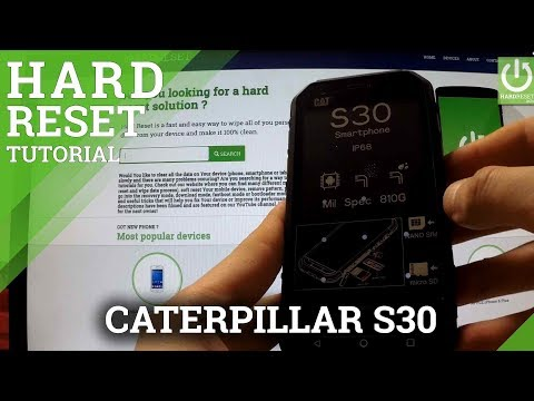 Hard Reset CATERPILLAR S30 - Remove Pattern Lock by Recovery Mode