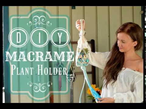 Diy Macrame Plant Holder By Virkkasin Youtube