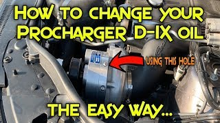 Procharger Update - 5000 mile oil change