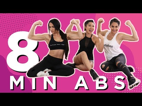 8 Minute At-Home Ab Workout with The Bella Twins!