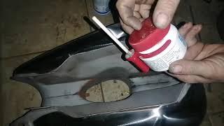 Jawa pérák oprava děravé (zrezlé) nádrže, letování