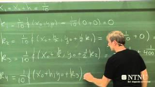 46-Numeriske metoder for differensialligninger del 3