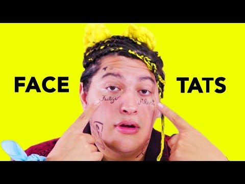 D.I.Y. Face Tattoos | Cheap Thrills