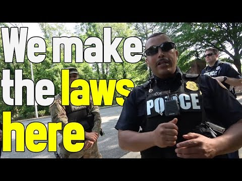 OFFICER MAKES UP LAWS TO ENFORCE