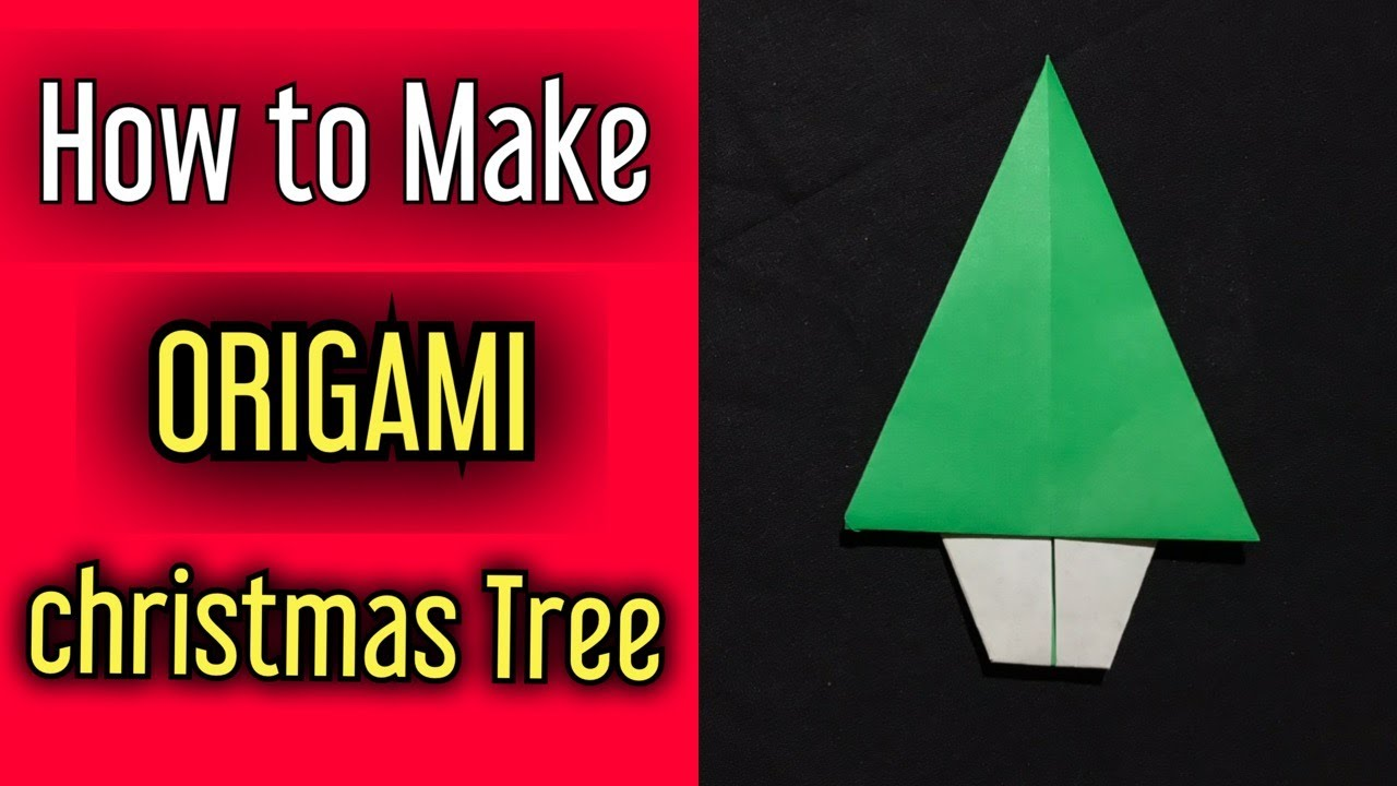 Simple Origami Christmas Tree | Christmas Decoration | DIY | Origami Tutorial