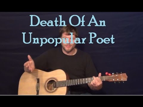 Death of An Unpopular Poet (Jimmy Buffett) Guitar Lesson Strum Fingerstyle How to Play