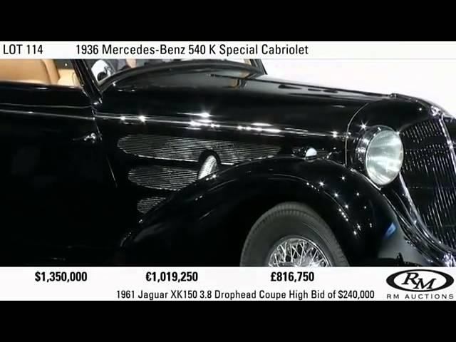 Mercedes-Benz 540K Special Cabriolet for $1.4m USD