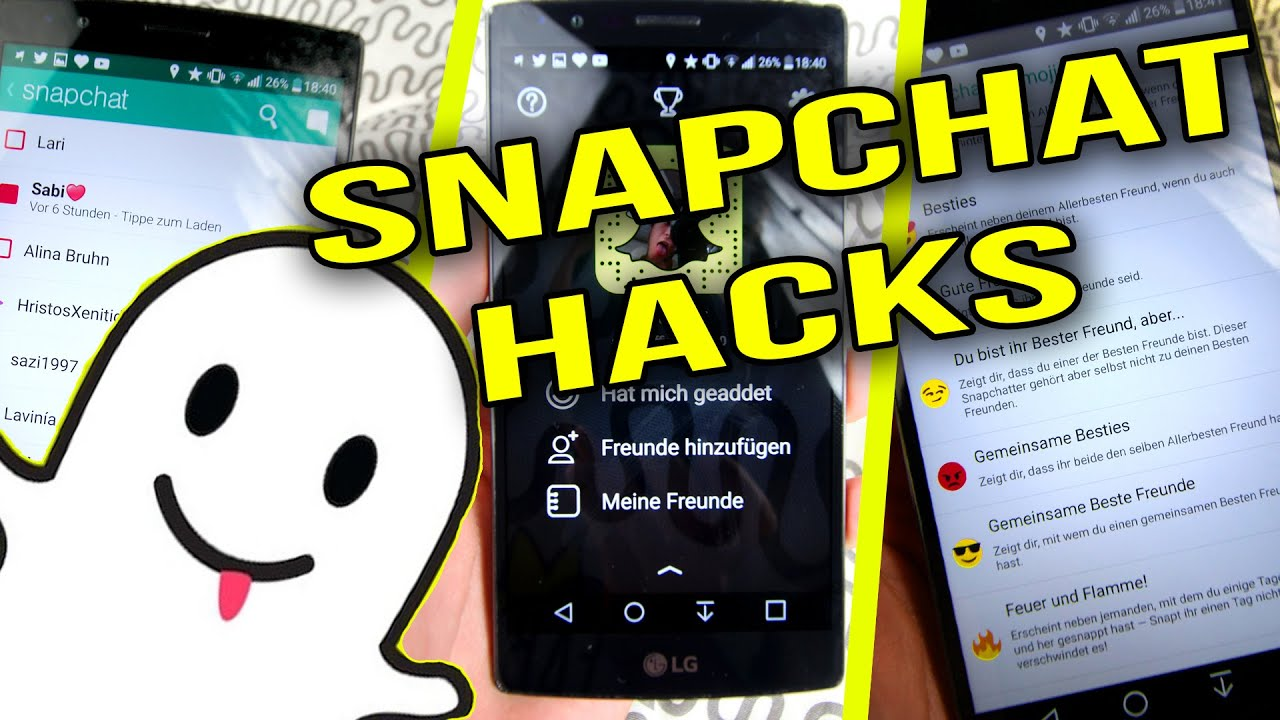 SNAPCHAT HACKS - 9 Geheime Funktionen Snapchat - YouTube