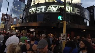 Celebrating Prince Outside First Avenue Club