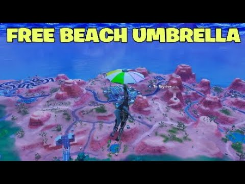 Fortnite How To Get *SECRET* Beach Umbrella *FREE AND EASY* Battle Royale