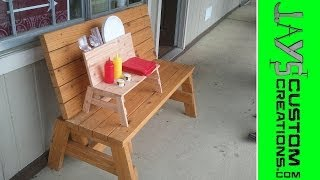 Mini Garden Bench Condiment Holder - Great For Picnics! - 094