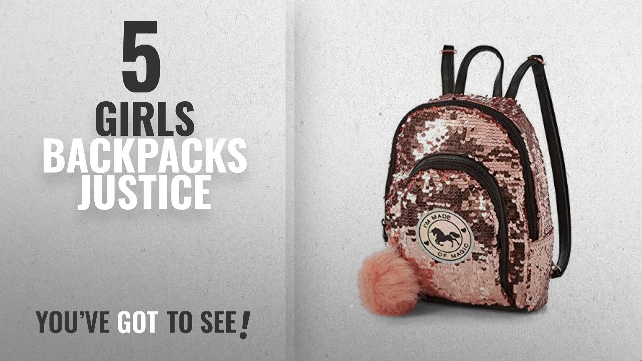 1779cef1312d Girls Backpacks Justice [2018 Best Sellers]: Justice Unicorn Sequin Mini  Backpack