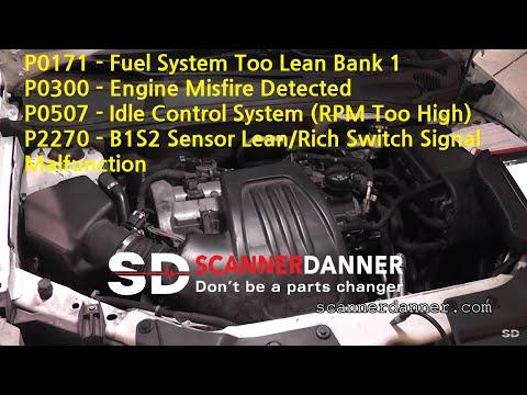 False mass airflow sensor/idle control system codes  - vacuum leak - Pontiac
