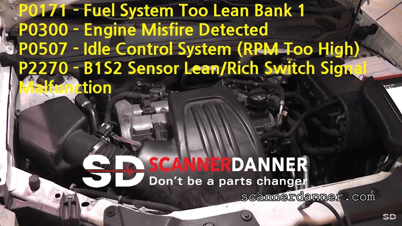 False Mass Airflow Sensor Idle Control System Codes Vacuum Leak Vibe Wiring Maf Diagram Pontiac
