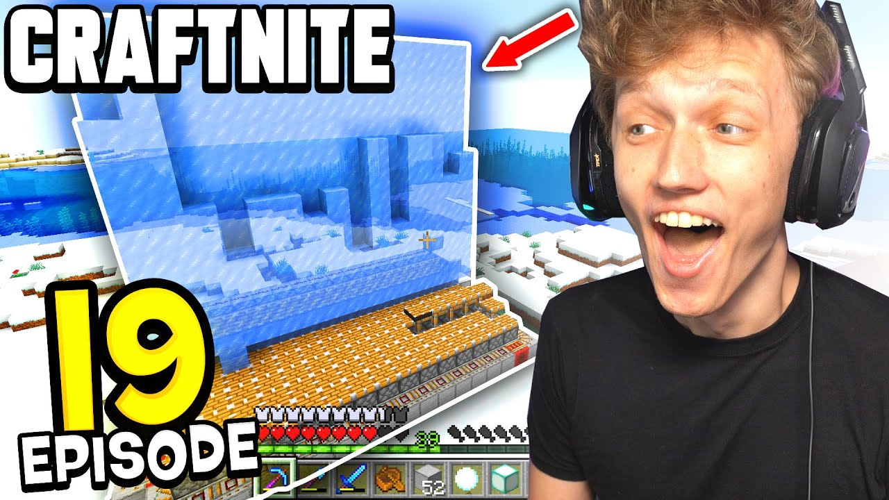 Craftnite: Episode 19 - I BUILT A MEGA ICE FARM... (my coolest farm yet)