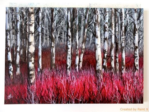 Watercolor Painting Tutorial Birch Trees Youtube