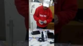 Recibiendo una nueva herramientas de trbajos