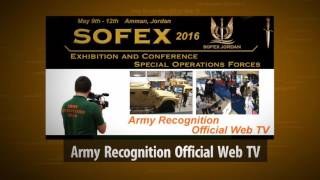 SOFEX 2016 Army Recognition Official Online Show Daily News Web Television Amman Jordan