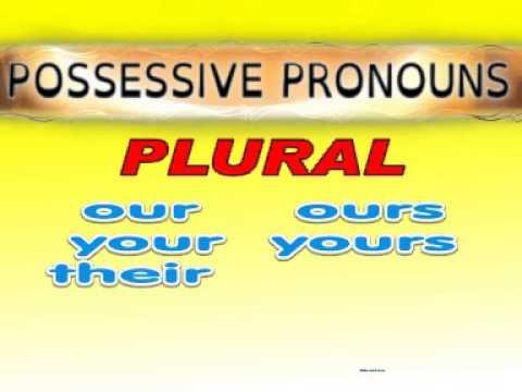 PRONOUNS 02  Possessive pronouns