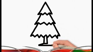 100% Easy Christmas Tree Glitter Coloring Pages for Preschoolers