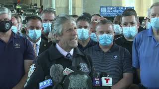 THIN BLUE LINE: New York Police Union News Conference