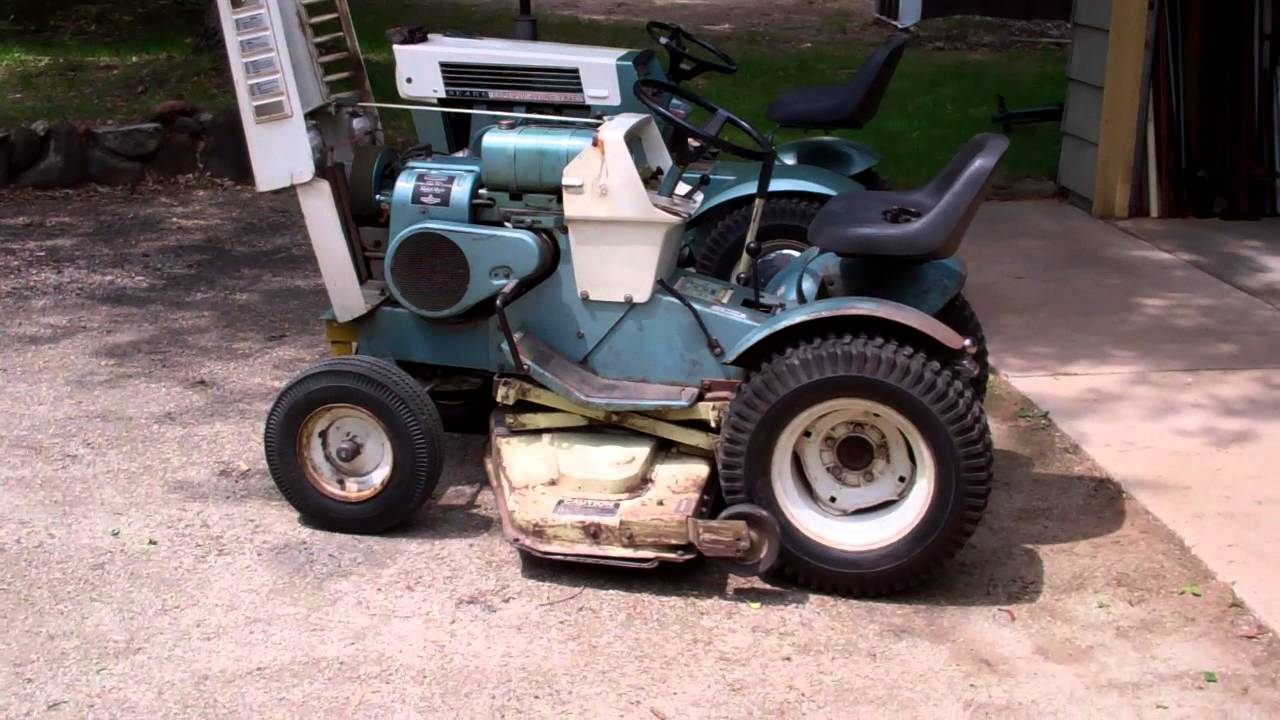 1974 Sears Garden Tractor : Sears tractor youtube