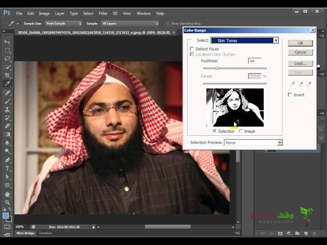 Adobe Photoshop cs6: 14- أداة تحديد الجلد