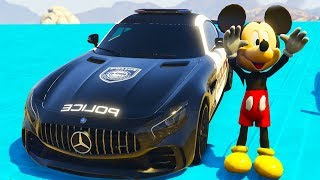 Colors Cars for Children Learn Color with Mickey Mouse. Cartoon about police cars for Kids