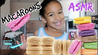 MACAROONS ASMR!!!! *soft smacking eating sounds*