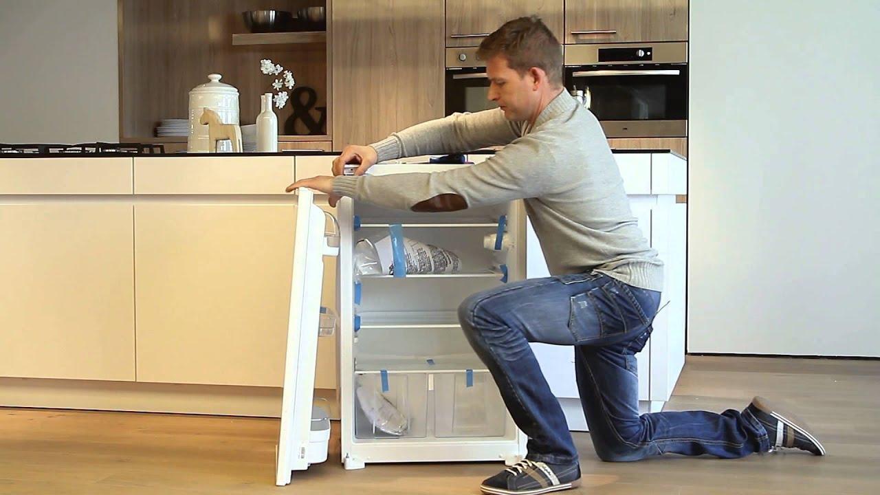 ETNA koelkast draairichting sleepdeur omdraaien   YouTube