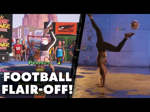 Football Freestyle Flair-Off - Sean Garnier vs Melody Donchet! | Street Power Football Challenge |