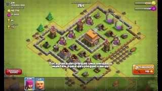 clash of clans | ataque gigantes y arqueras nivel 2 | ayuntamiento nivel 4