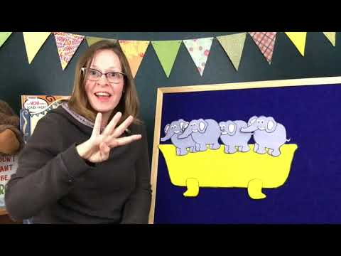 Storytime OnDemand: Five Elephants in a Bathtub Flannel