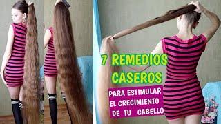 👍❤️7 remedios caseros para ESTIMULAR EL CRECIMIENTO DE TU CABELLO *Consejos de Rapunzel humana*