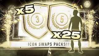 INSANE 25x 83+ PACKS & 5x 85+ ICONS SWAP PACKS!!! FIFA 21 Ultimate Team