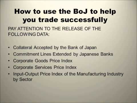 PROFESSIONAL FOREX TRAINING SERIES Bank of Japan