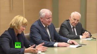Putin und Seehofer über russisch-bayerische Freundschaft