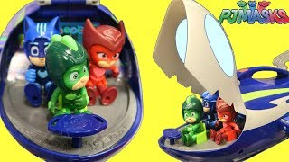 NEW PJ MASKS Super Moon Adventure with new Toys Rescue Missions HQ and Space Cruiser