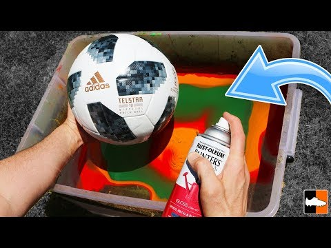 How To Hydro Dip a Football! (Soccer Ball) ⚽️
