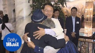 North Korean families separated by war are finally reunited - Daily Mail