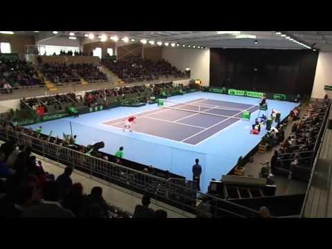 Davis Cup: João Sousa vs Gerald Melzer (includes matchpoint)