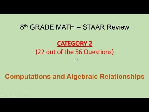 category 2 staar 8th grade math questions