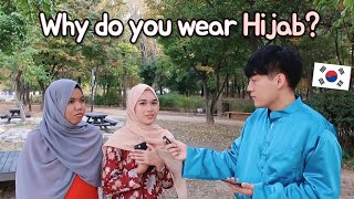 """Korean guy asked """"Why do you wear Hijab?"""""""