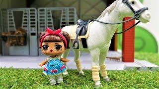 ЛОЛ строит ферму - Куклы Лол - Мультики для девочек