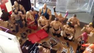 WWE Action figure set up - RAW Addition