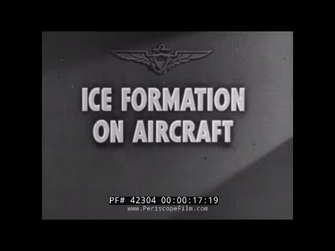 U.S. NAVY ICE FORMATION ON AIRCRAFT WWII DISNEY CARTOON 42304