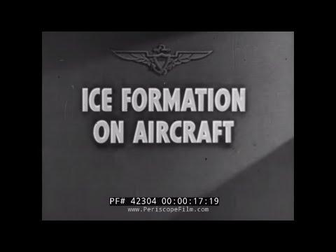 U.S. NAVY ICE FORMATION ON AIRCRAFT WWII DISNEY CARTOON 42304